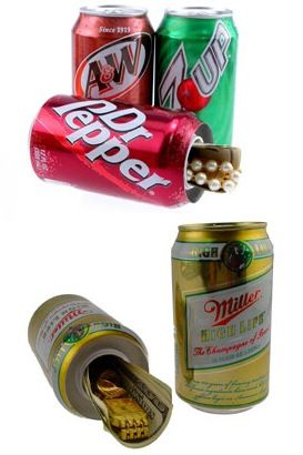 Beer and Soda Can Diversion Safe