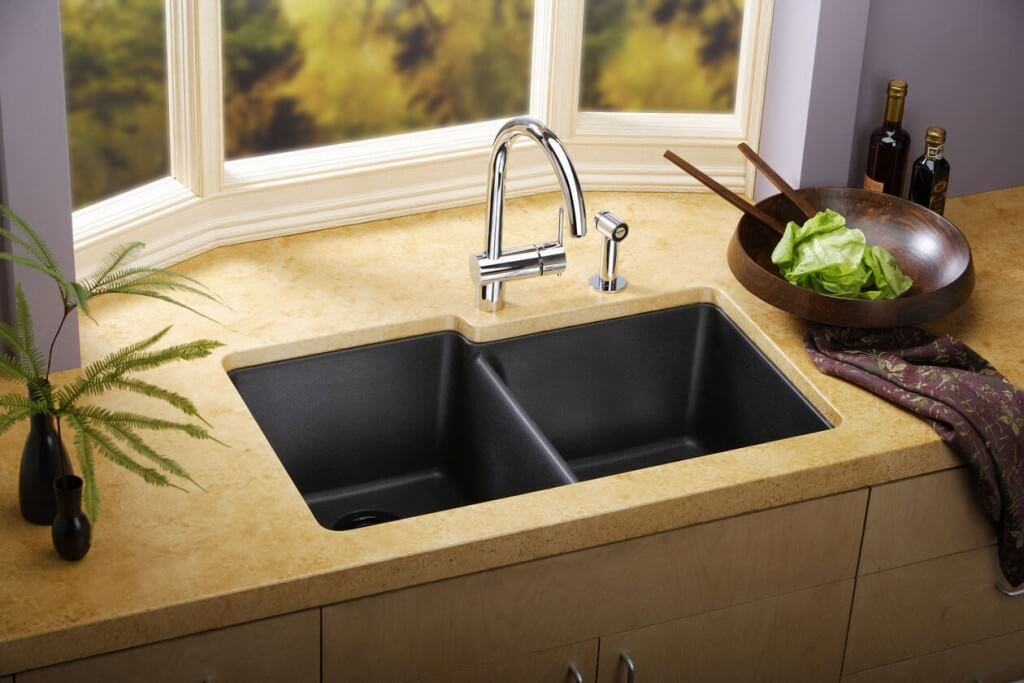 amazing Cost To Install New Kitchen Sink #4: Modern Kitchen Double Sink. Installing a new ...