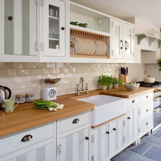 White Cabinets in a Small Modern Kitchen
