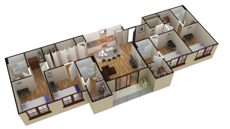 3D Floor Plan of Apartment / Home