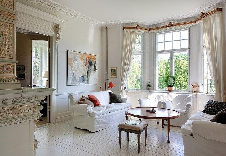 Large Bay Windows in a Living Room