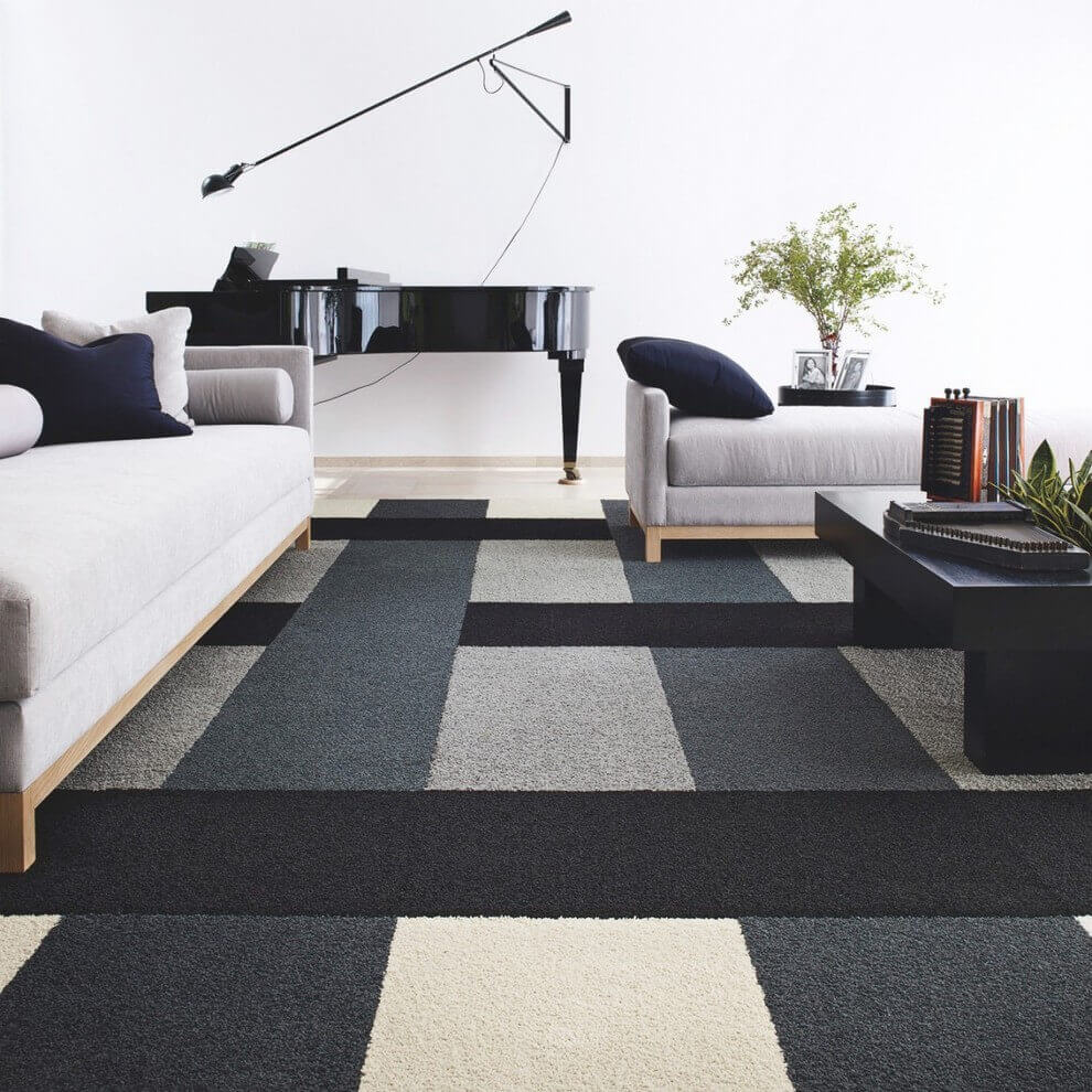 Modern Carpet Flooring in the Living Room