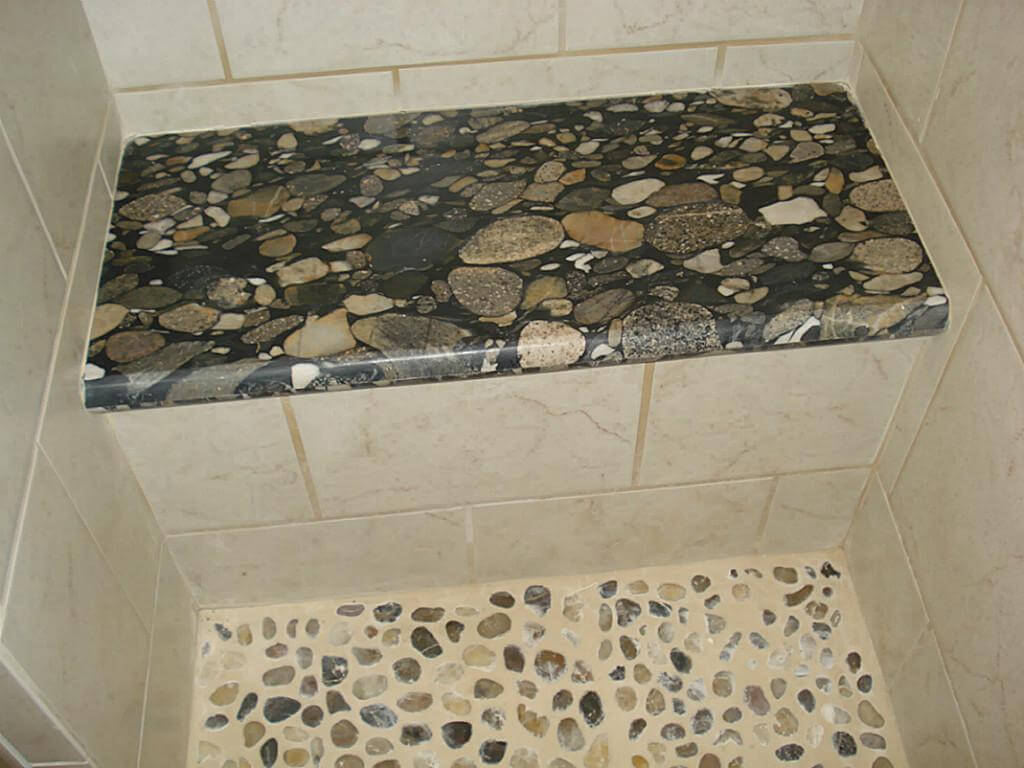Stone Shower Bench