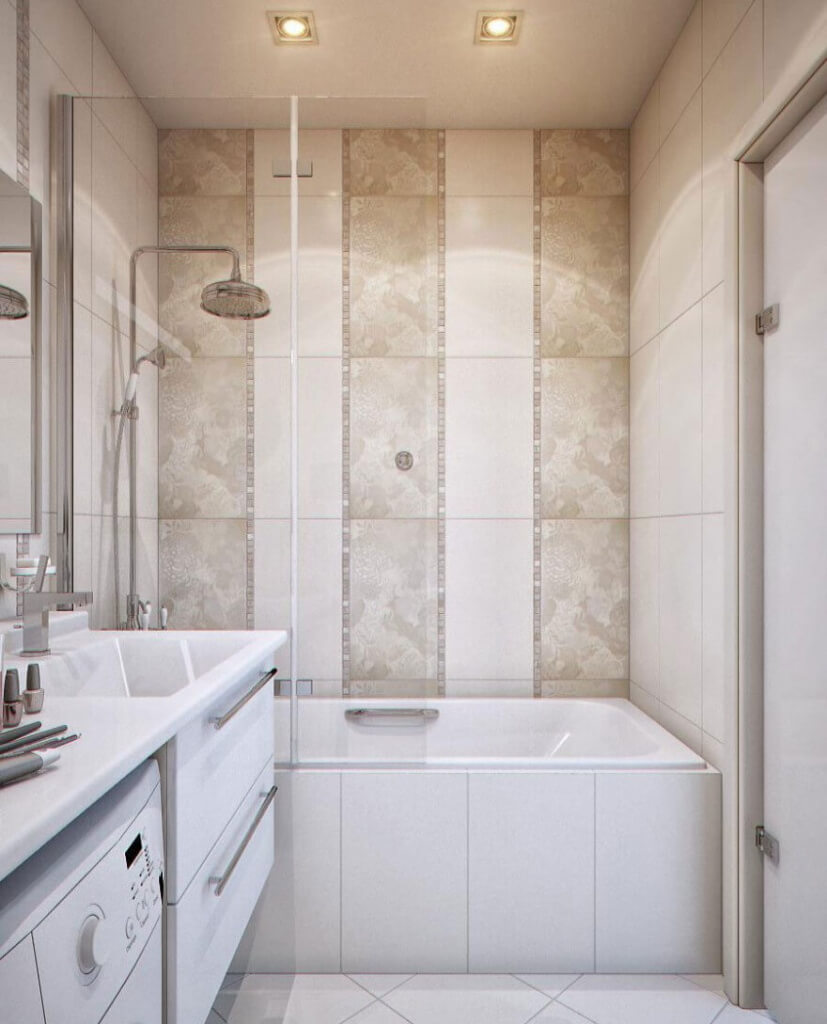 7 tile design tips for a small bathroom apartment geeks How to put tile on wall in the kitchen