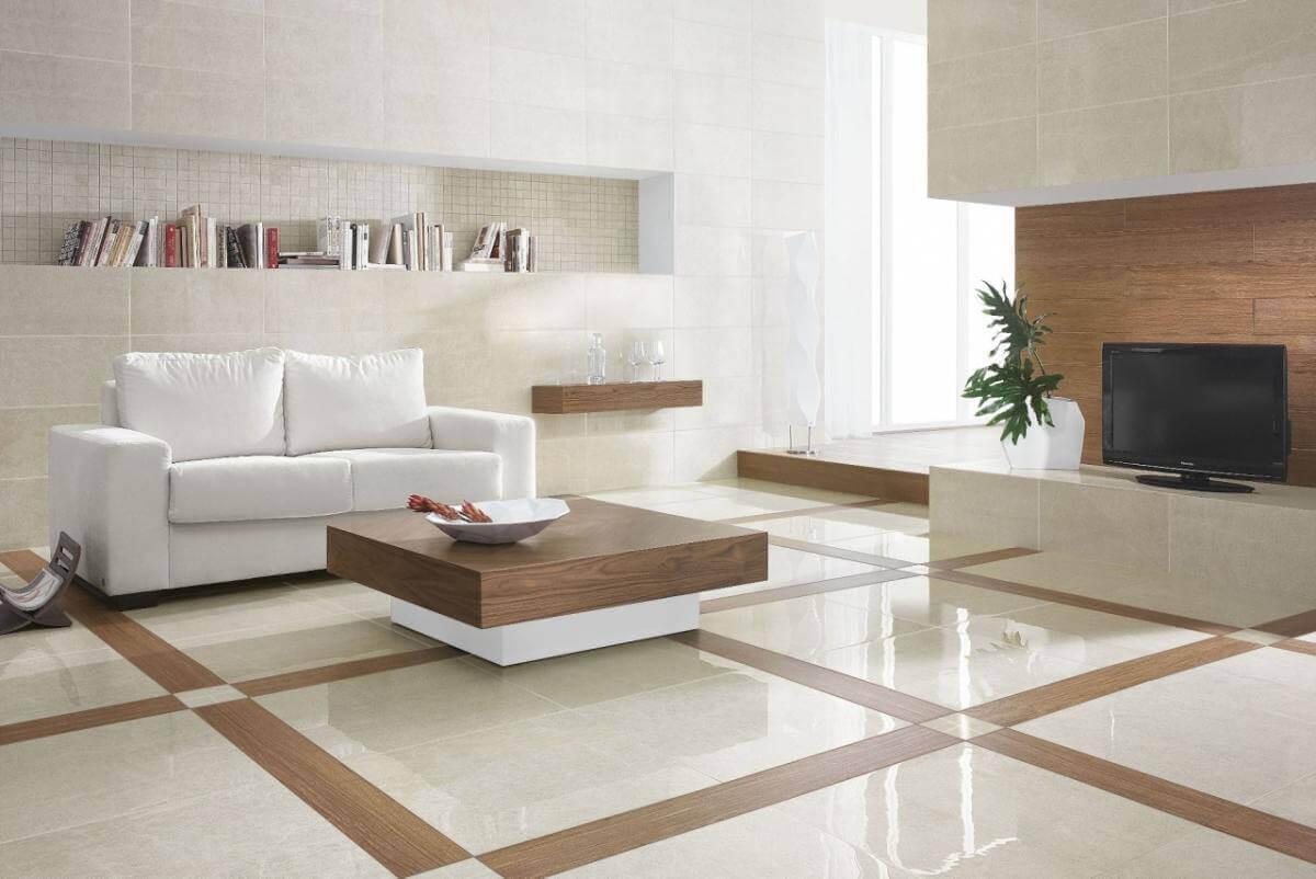 Ceramic Tile Flooring in a Modern Living Room